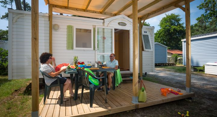 Mobil-home Riviera camping Le Boudigau